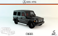 mercedes-benz g55 amg 3d 3ds