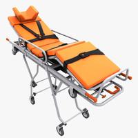 realistic stretcher 3d model