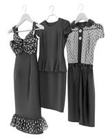 3d model of dresses hangers