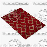 loloi rugs ep-04 red 3d model