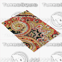 3d loloi rugs fc-09 red model