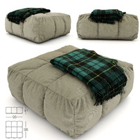 max pouf plaid