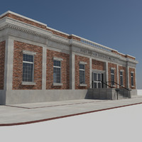 - modern post office 3d max