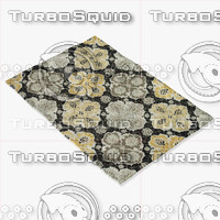 3d loloi rugs fc-25 charcoal model
