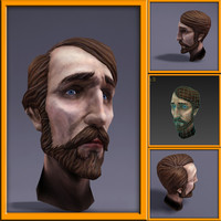 3d 3ds head cartoon human polys