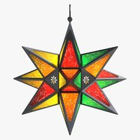 star lantern colorful 3d ma