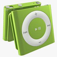 3d ipod shuffle green model