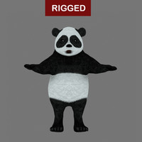 3ds max rigged panda