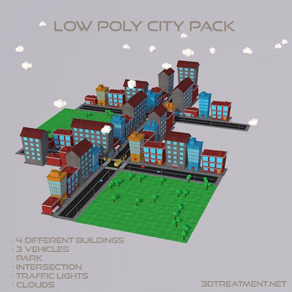 Blender Low Poly City – Jerusalem House
