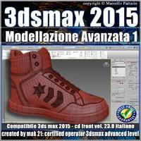 3ds max 2015 Modellazione Avanzata 1 v.23 Italiano cd front