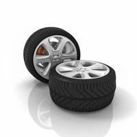 3d car tires model