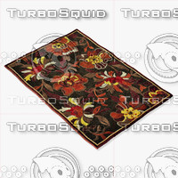 3d loloi rugs hl-11 dark brown model