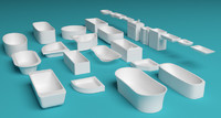 bath tubs sinks 3d max