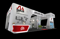 3d model of exhibition design stand