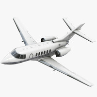 3d model hawker 800xp private jet