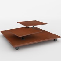3d archviz wheeled table unwrapped