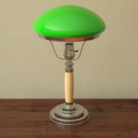 Table lamp with bowl shade