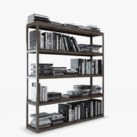 3d bookcase axel double -