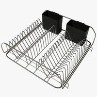 dish drainer 3d 3ds
