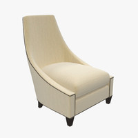3d model baker bel-air lounge chair