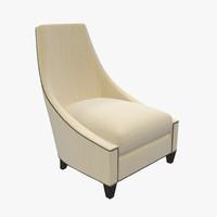 3d model baker bel-air lounge chair