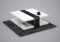coffee table black white 3d model