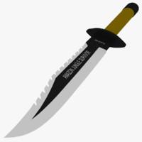3dsmax amazon survival knife