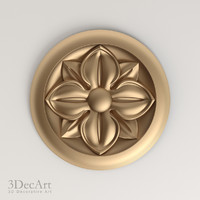 3d decorative rosettes model