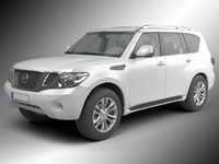 car nissan patrol 2011 3d model