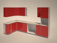 3d kitchen real scale model