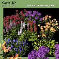 flowers gardens 3d c4d