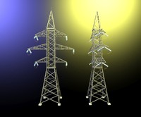 3d model electrical transmission tower
