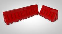 3d barricades model