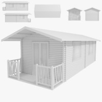 3d model cabin type 1