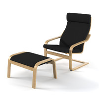 3d model ikea poeng chair