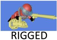 3d lego scuba diver rigged