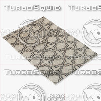 loloi rugs tq-01 ivory 3d model