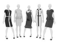 Female mannequins in dresses_01