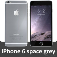 apple iphone 6 space 3d model