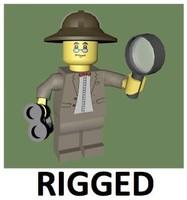 3d lego explorer rigged