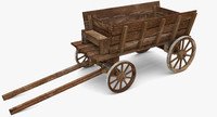 3d model cart modeled