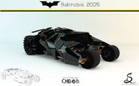 batmobile tumbler 2005 designs 3d c4d