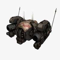 drone fighter robot 3d model