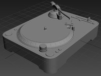 3d model dj turntable