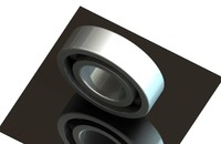 3d bearing skf 6205