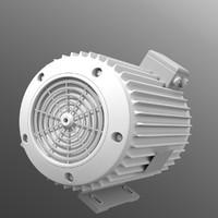 3d model electric motor