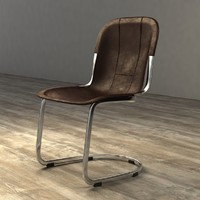Restoration Hardware RIZZO LEATHER SIDE CHAIR