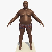 3d realistically african male man rigged