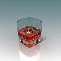 max glass whiskey ice cubes
