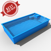 garden swimming pool 3d max